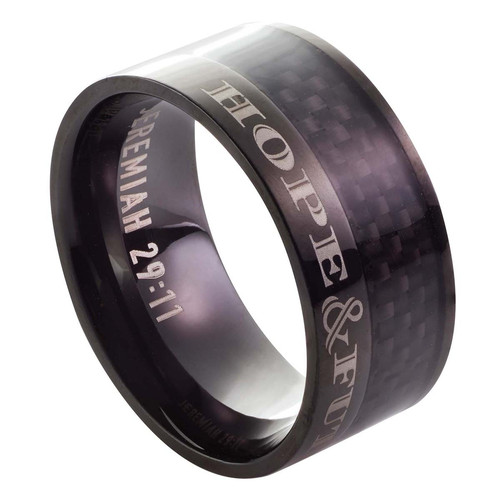 Hope and Future - Jeremiah 29:11 Mens Ring