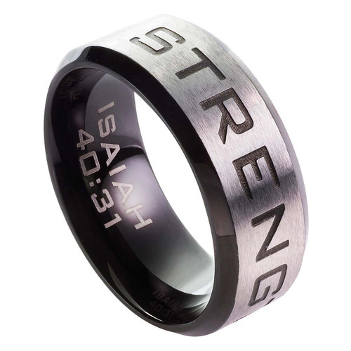 Strength - Isaiah 40:31 Mens Ring