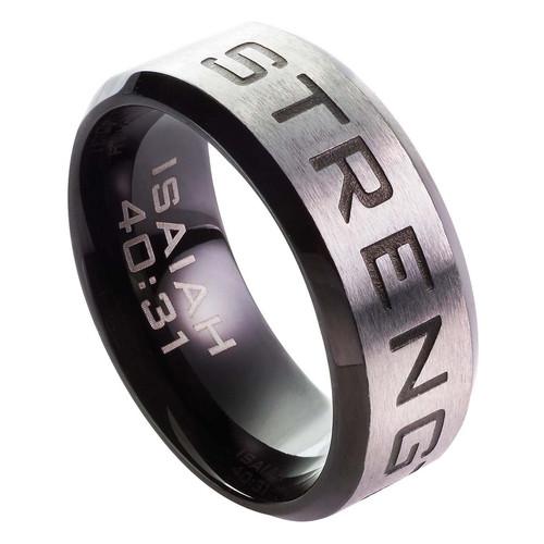 Strength - Isaiah 40:31 Men's Ring