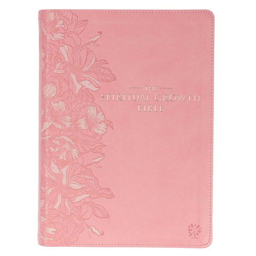 Pink Faux Leather Spiritual Growth Bible