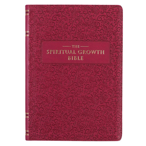 Berry Faux Leather Spiritual Growth Bible