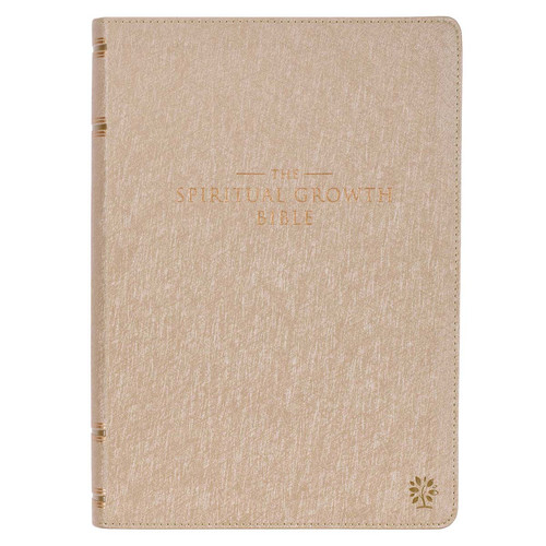 Pearlescent Taupe Faux Leather Spiritual Growth Bible