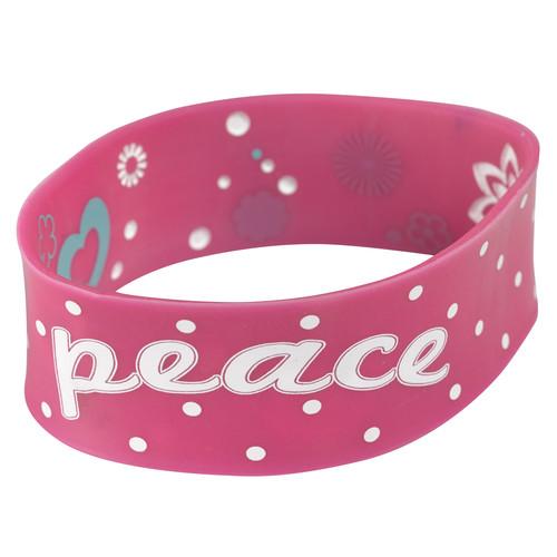 Pink Wristband Peace