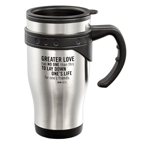 Stainless Steel Travel Mug: Greater Love - John 15:13