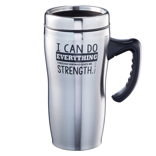 I Can Do Everything - Philippians 4:13 Stainless Steel Travel Mug