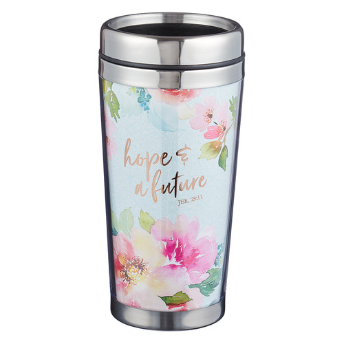 Hope and Future Polymer Travel Mug - Jeremiah 29:11