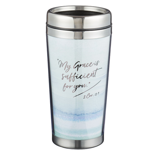 My Grace is Sufficient - 2 Corinthians 12:9 Polymer Travel Mug