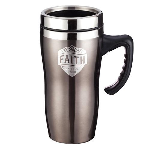 Faith - Matthew 17:20 Stainless Steel Travel Mug