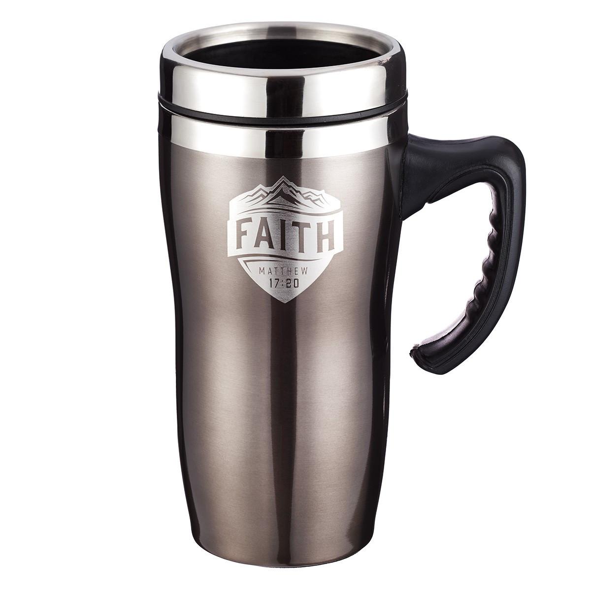 faith matthew 17 20 stainless steel travel mug