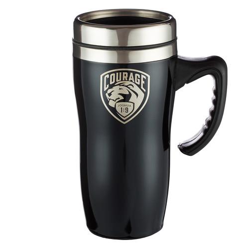 Courage - Joshua 1:9 Stainless Steel Travel Mug