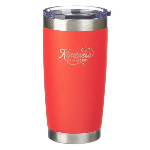 Kindness Matters Orange Stainless Steel Mug