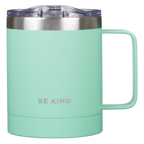 Be Kind Stainless Steel Camp Mug in Teal