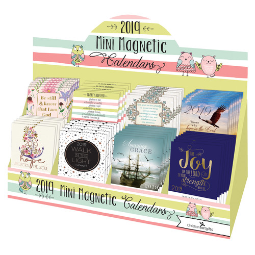 2019 Mini Magnetic Calendar Merchandiser