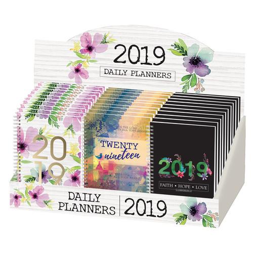 2019 Wirebound Daily Planner Merchandiser