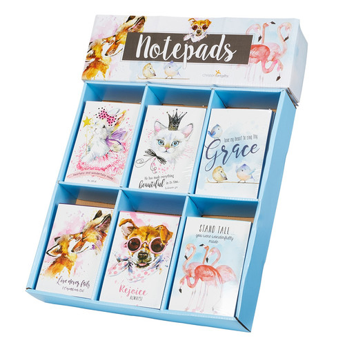 Illustrated Pets Notepad Merchandiser