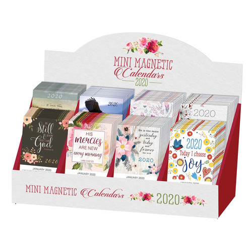 2020 Mini Magnetic Calendars Merchandiser