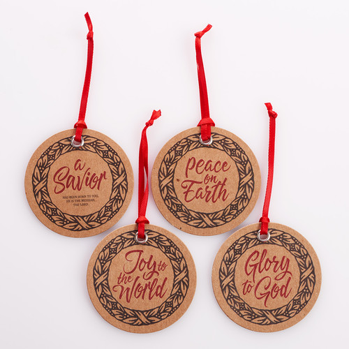 Christmas Gift Tag Set: Christmas Wreath