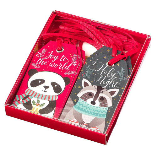 Assorted Boxed Christmas Gift Tag Set - Forest Animals
