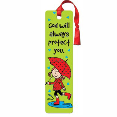 LaeDee Bugg God will always protect you - Tassle Bookmark