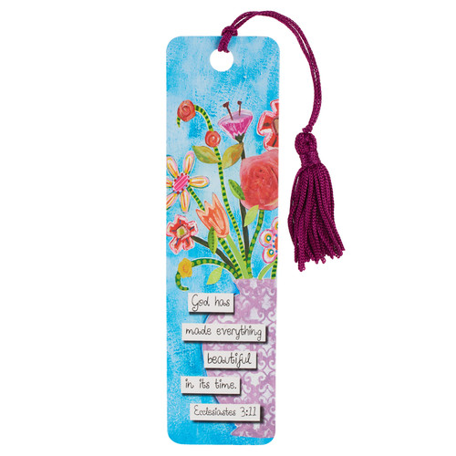 Floral Blessings Bookmark - Ecc 3:11