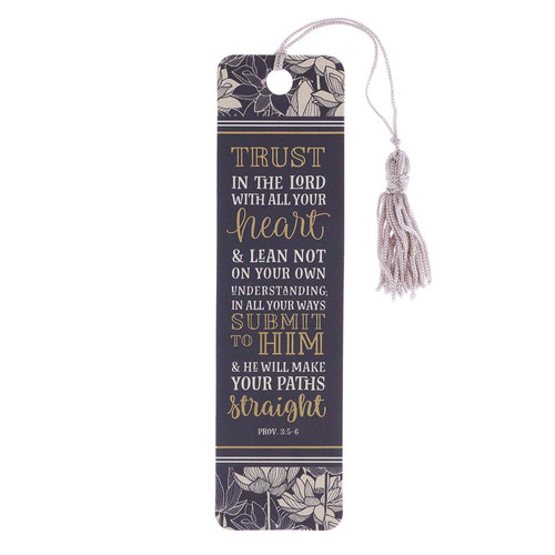 Trust in the Lord Bookmark with Tassel - Proverbs 3:5-6