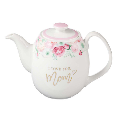 I Love You Mom Ceramic Teapot