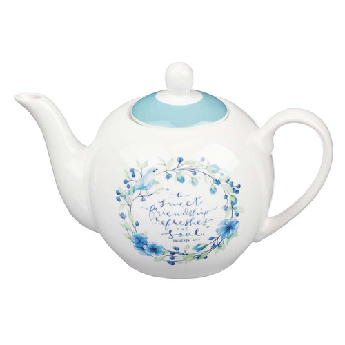 A Sweet Friendship Ceramic Teapot - Proverbs 27:9