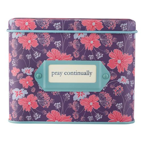 Pray Continually Prayer Cards in Tins