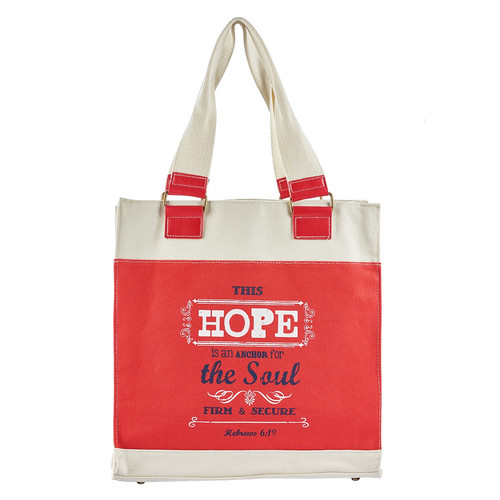 Hope Retro Blessings Canvas Tote Bag - Hebrews 6:19