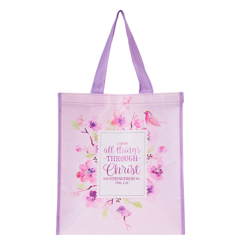 All Things Through Christ Tote Bag - Philippians 4:13