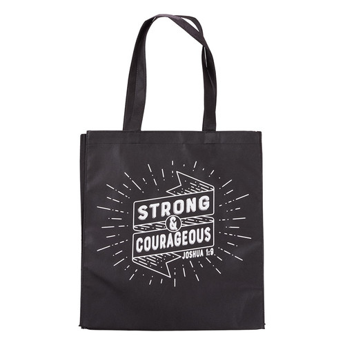 Strong And Courageous Tote Bag - Joshua 1:9