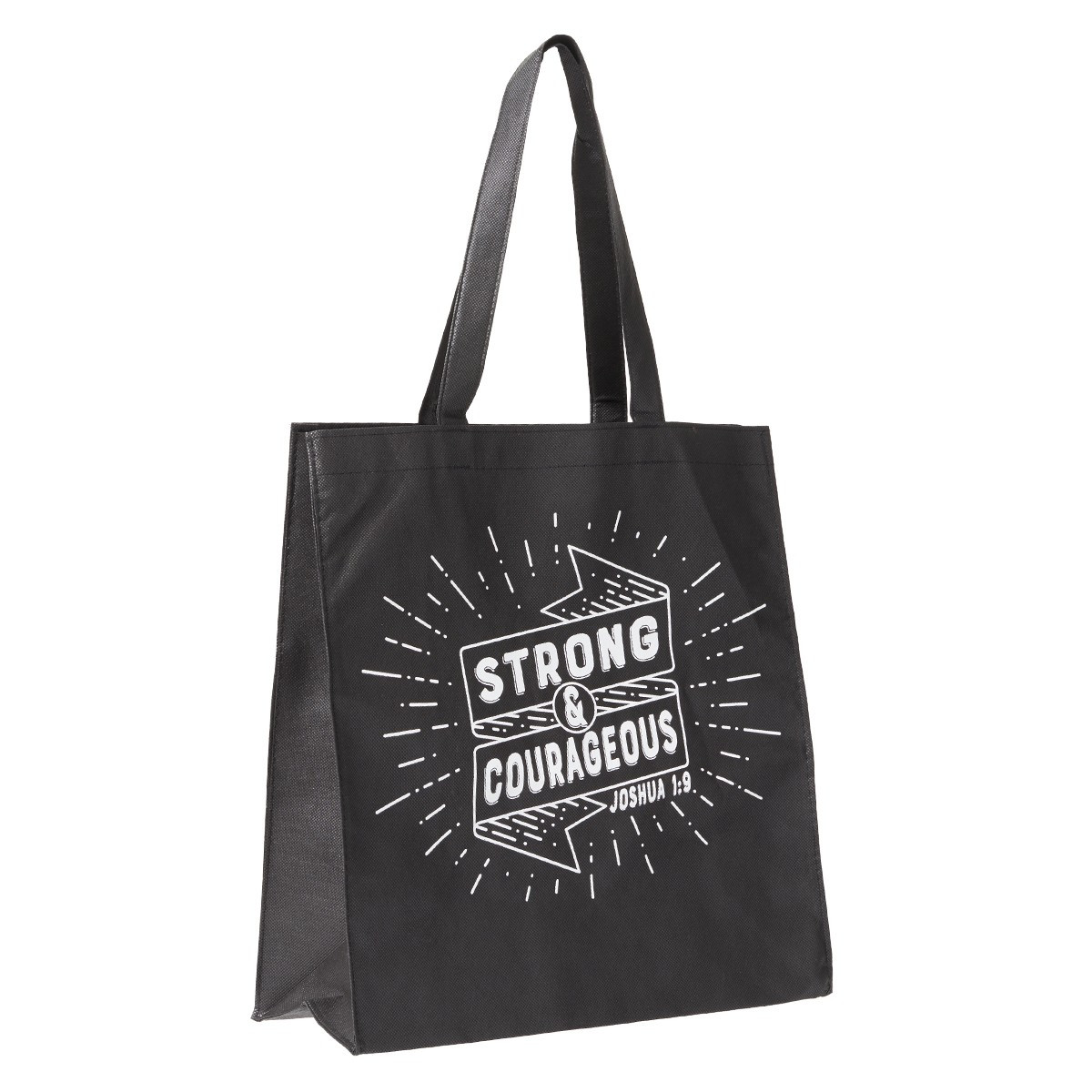 Strong And Courageous Tote Bag Joshua 1 9