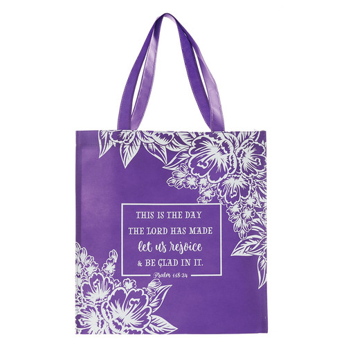Let Us Rejoice Tote Bag - Psalm 118:24