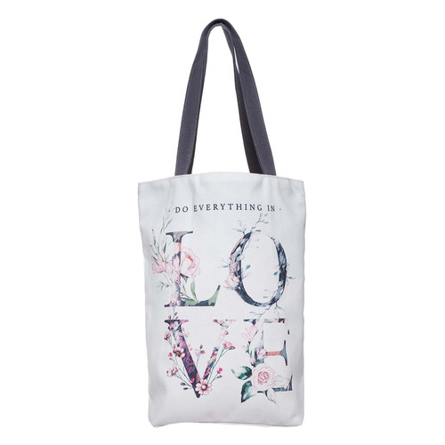 Do Everything In Love Cotton Canvas Tote Bag