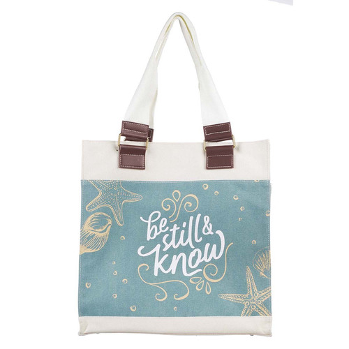 Be Still Canvas Tote Bag - Psalm 46:10