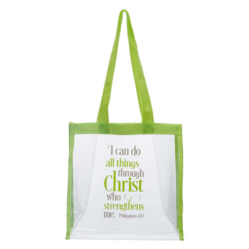 I Can Do All Things Clear Tote Bag - Philippians 3:14