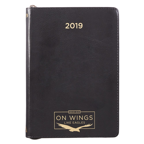 2019 Executive Planner with zipper closure: On Wings like Eagles - Isaiah 40:31