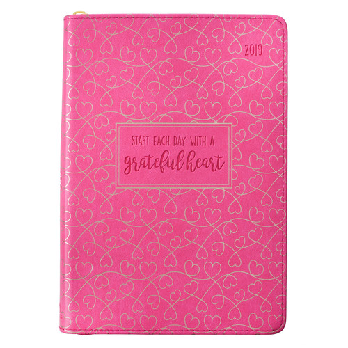 Grateful Heart 2019 Executive Planner with zipper closure