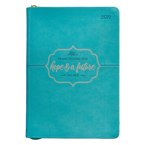 Hope & A Future - Jeremiah 29:11- 2019 Executive Planner with Zipper Closure