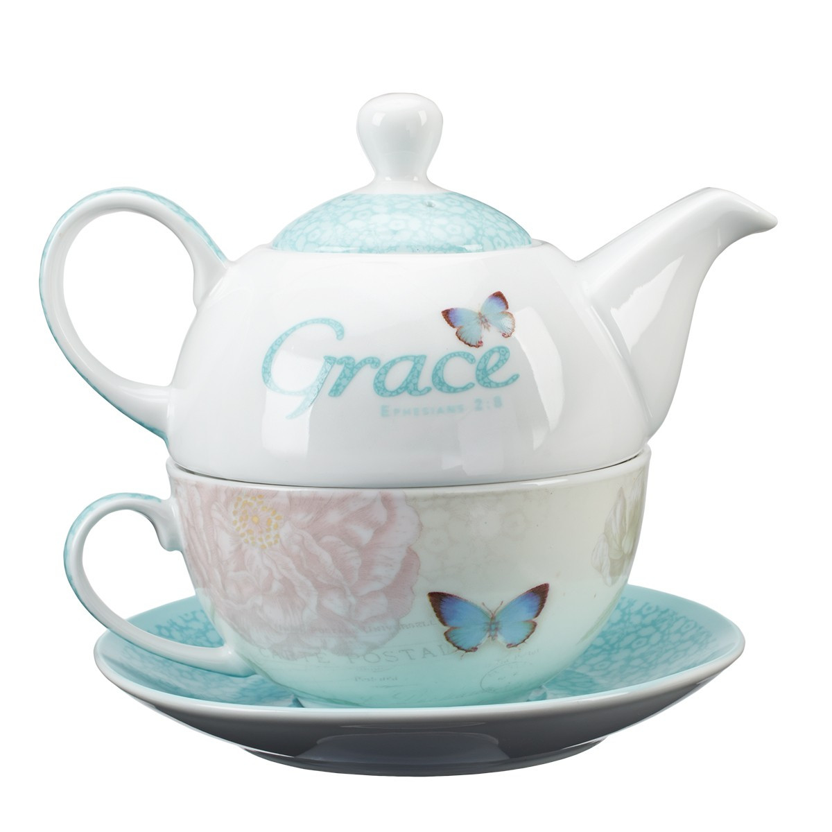 tea for one set grace butterfly blessings