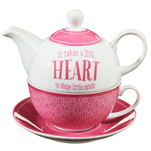 Blessings to the Teacher Tea-for-One Set - 1 Corinthians 16:14
