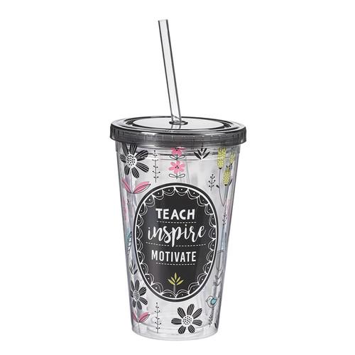 Teach, Inspire, Motivate Plastic Tumbler