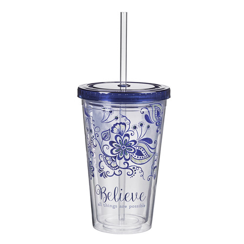Believe all Things are Possible Plastic Tumbler