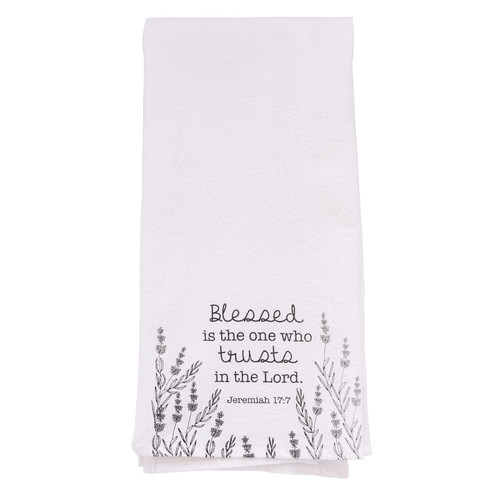 Trust In The Lord Tea Towel – Jeremiah 17:7