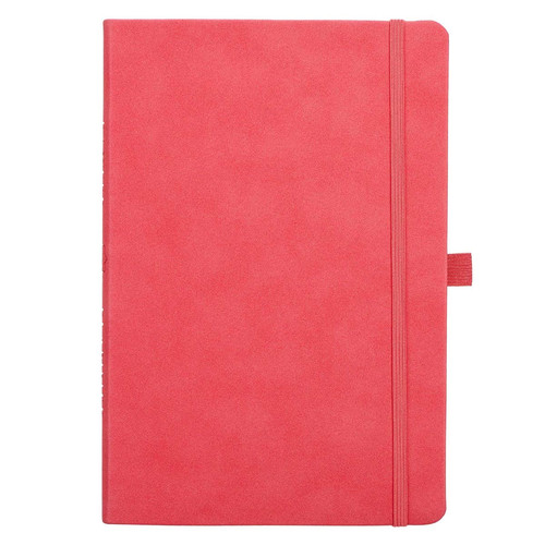 Pink Faux Leather Baxter Undated Planner