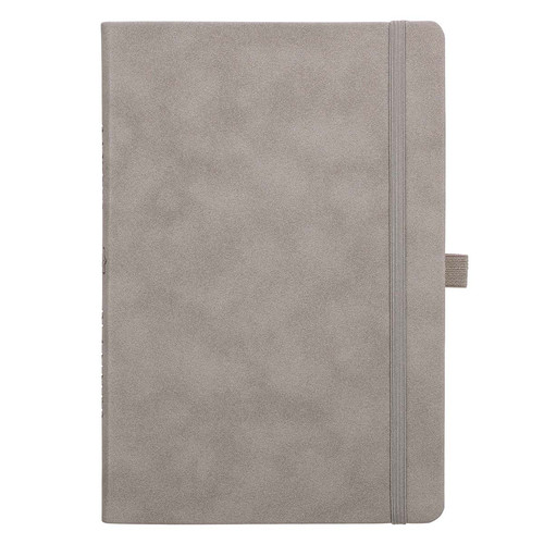 Gray Faux Leather Baxter Undated Planner