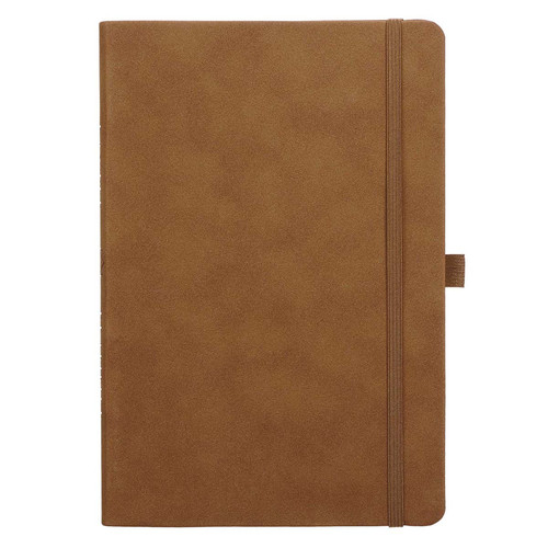 Brown Faux Leather Baxter Undated Planner