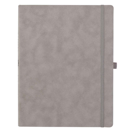 Taupe Faux Leather Baxter Executive Undated Planner