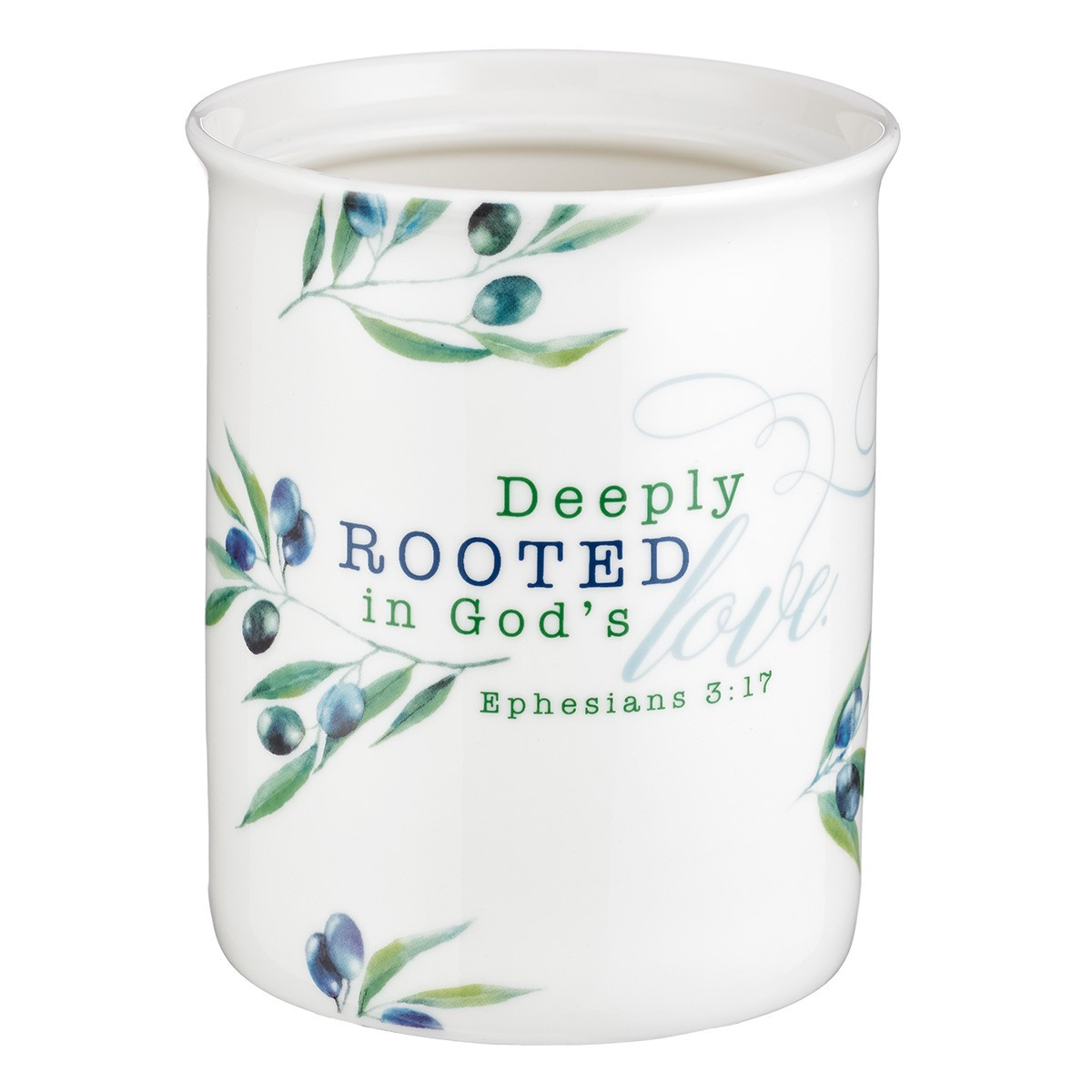 Kitchen Utensil Holder: Deeply Rooted in God\'s Love - Ephesians 3:17