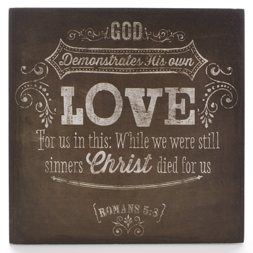 Chalkboard Collection: Love Wooden Wall Decór Plaque
